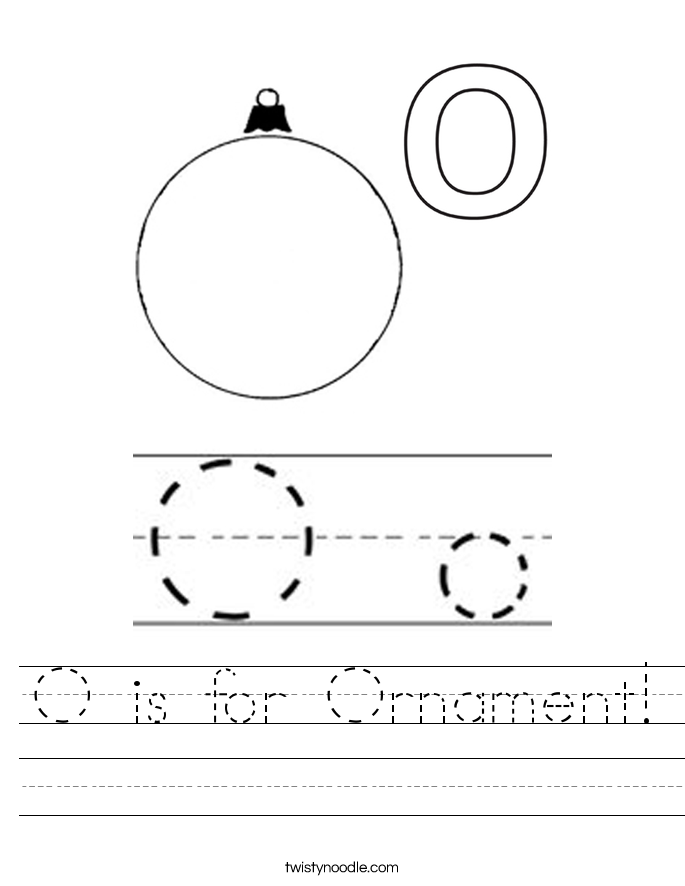 O is for Ornament! Worksheet