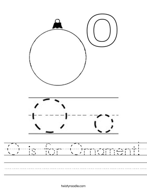 O is for Ornament Worksheet