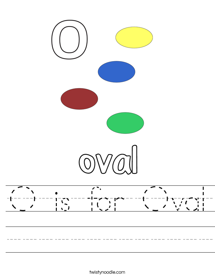 O is for Oval Worksheet