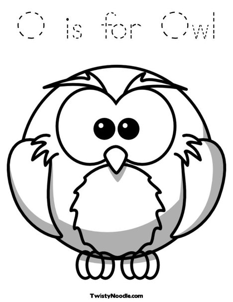 School Owl Coloring Page o is For Owl Coloring Page