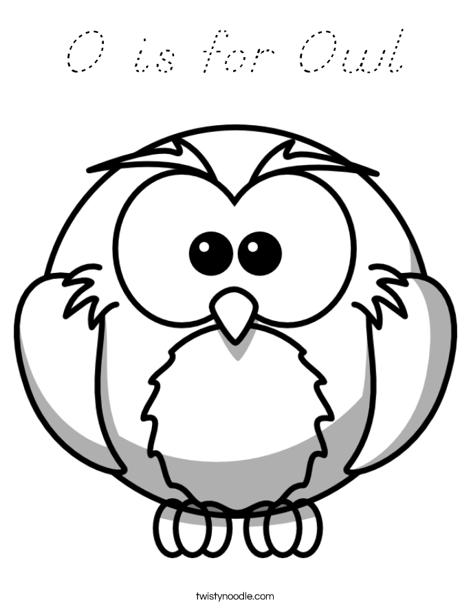 O is for Owl Coloring Page