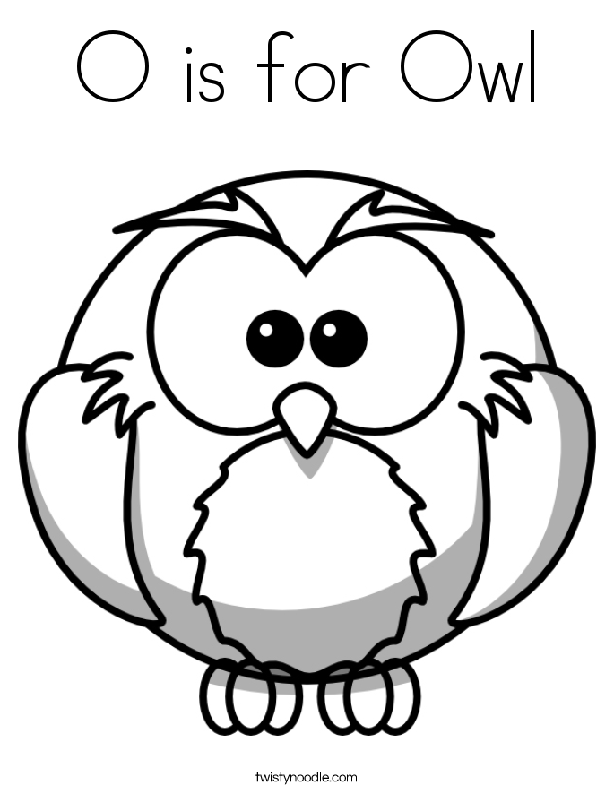 Letter O Coloring Sheets #2675