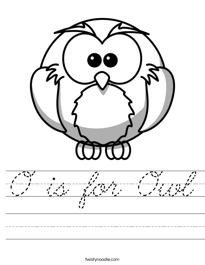 O is for Owl Worksheet