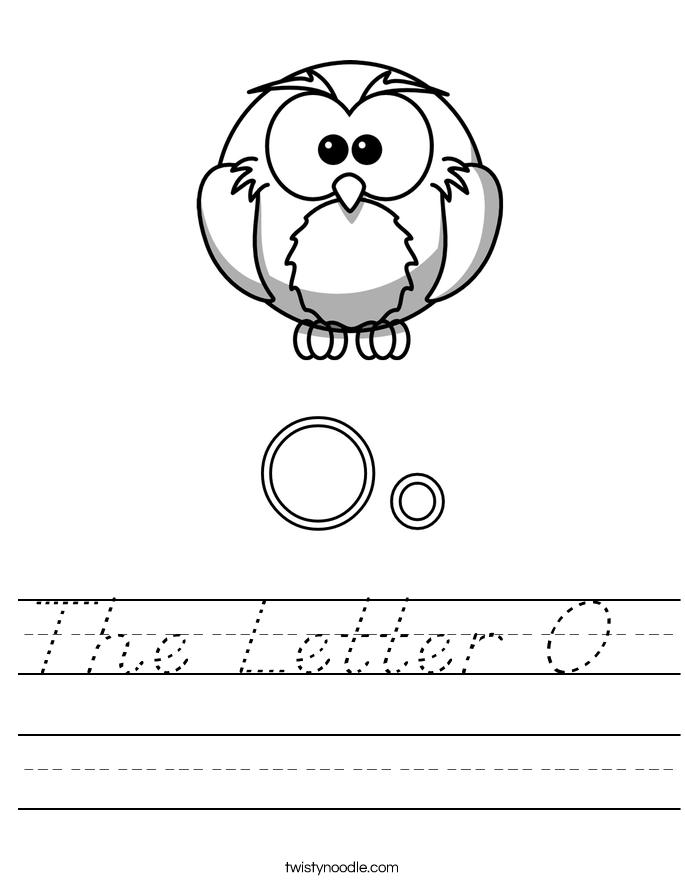 The Letter O  Worksheet