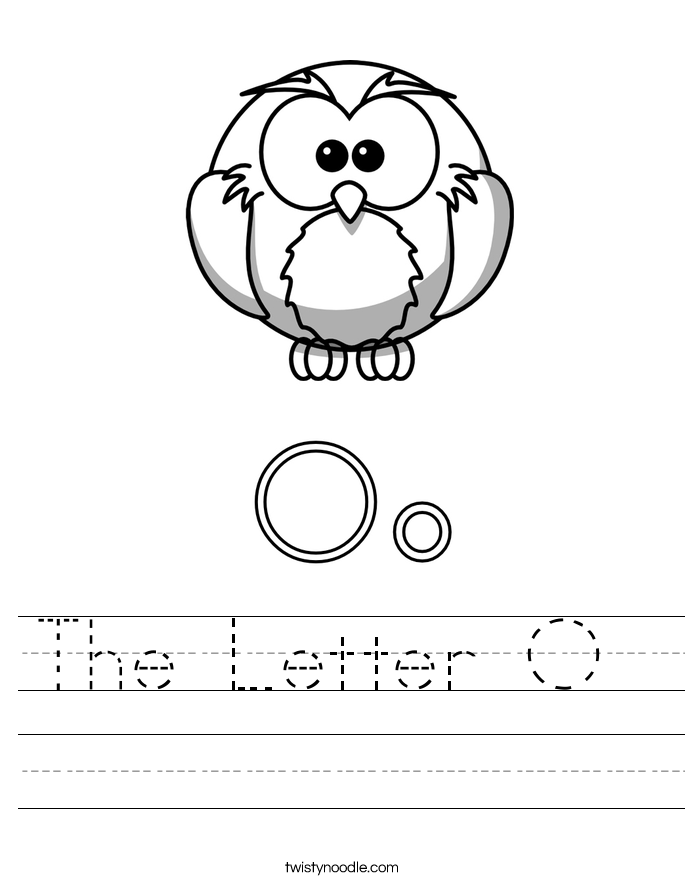 The Letter O  Worksheet