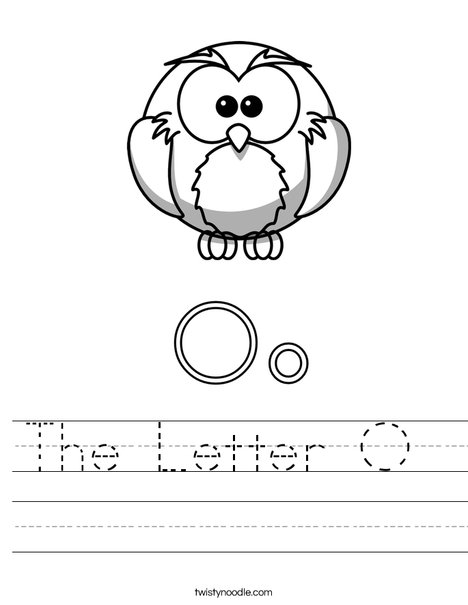 Letter O for Owl Worksheet