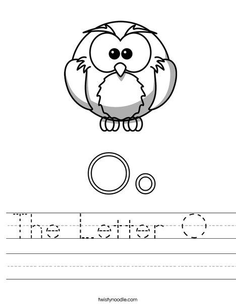 Letter O for Owl Worksheet
