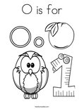 O is for Coloring Page
