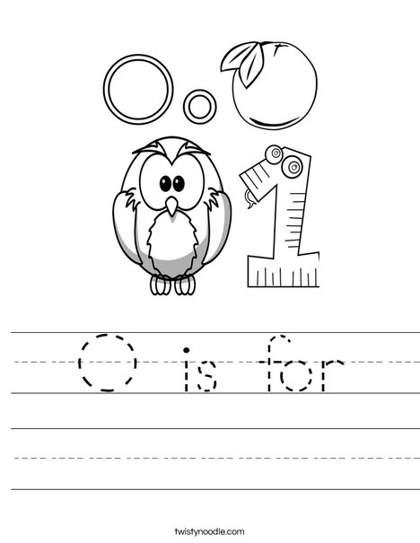 letter o worksheets o is for worksheet twisty noodle 33961