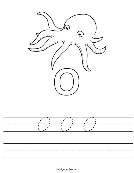 O Octopus Worksheet