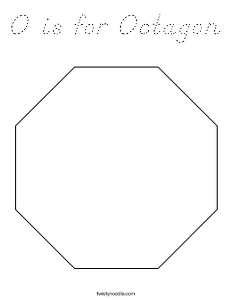 O is for octagon coloring page d 39 nealian twisty noodle for Octagon coloring page