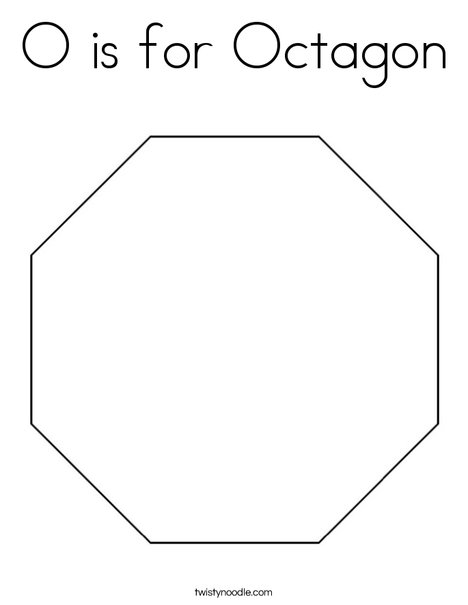 Octagon Printable Coloring Pages Octagon Coloring Page