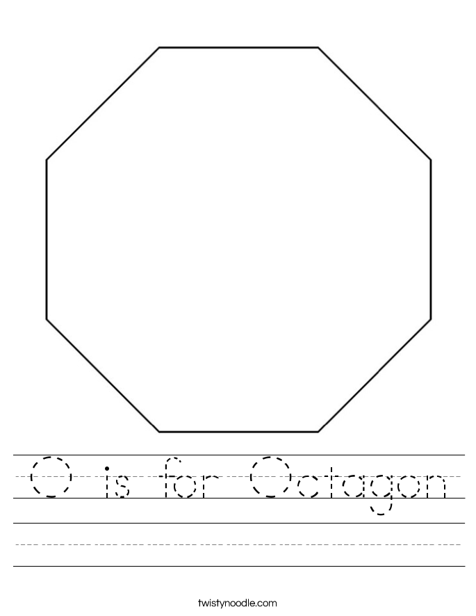 O is for Octagon Worksheet
