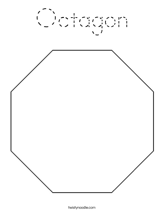 Octagon Coloring Page Tracing Twisty Noodle Octagon Coloring Page