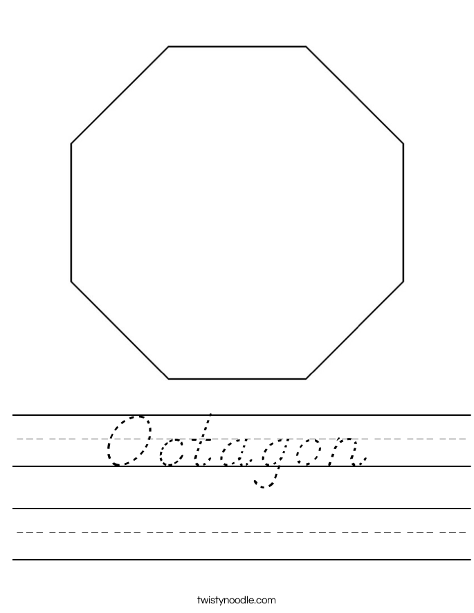 octagon worksheet d 39 nealian twisty noodle. Black Bedroom Furniture Sets. Home Design Ideas