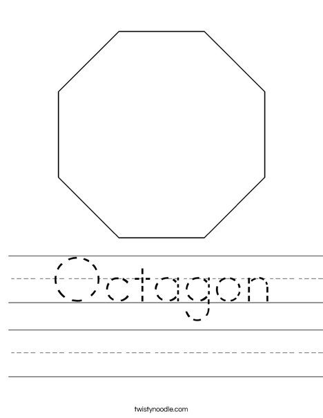Octagon Worksheets For Preschool Worksheets for all | Download and ...