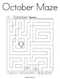 October Maze Coloring Page