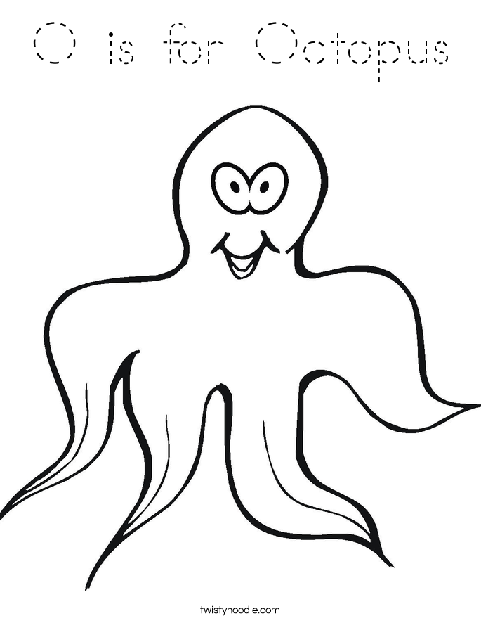o is for octopus coloring pages - photo #10