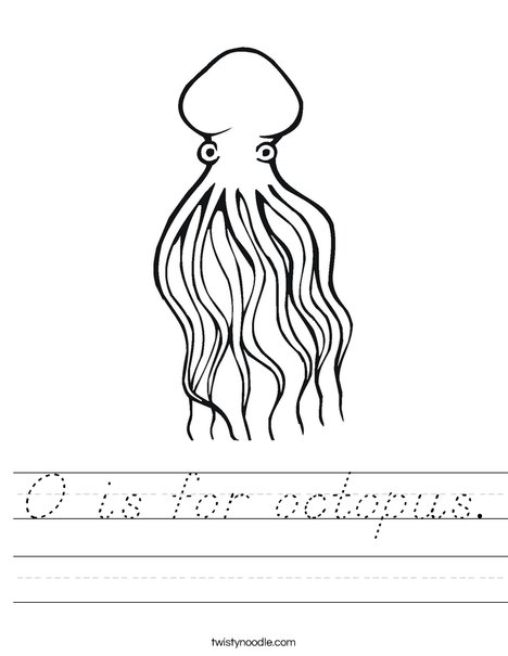 Octopus Worksheet