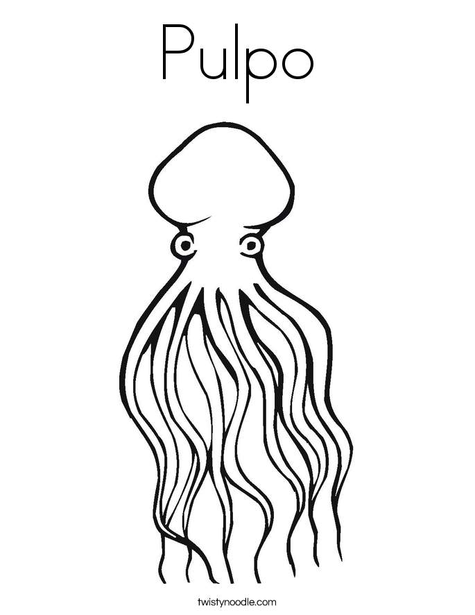 Pulpo Coloring Page