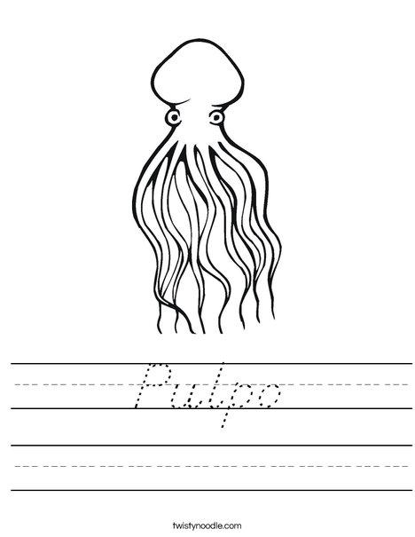 Octopus Worksheet