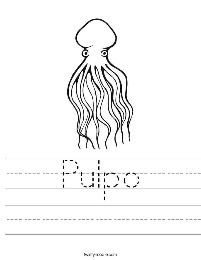 Pulpo Worksheet