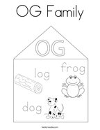 OG Family Coloring Page