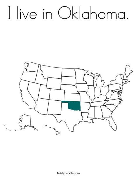 Oklahoma Coloring Page