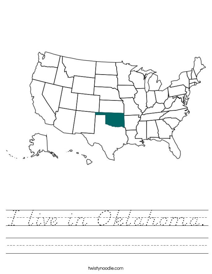 I live in Oklahoma. Worksheet