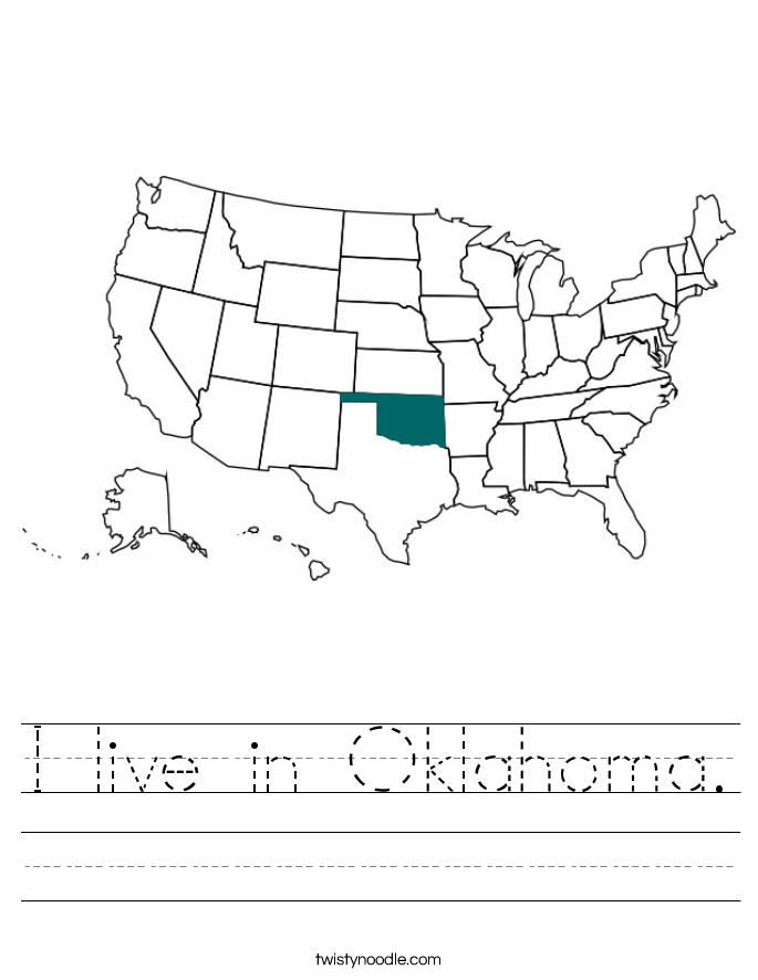 I live in Oklahoma. Worksheet