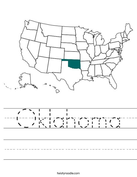 Oklahoma Worksheet