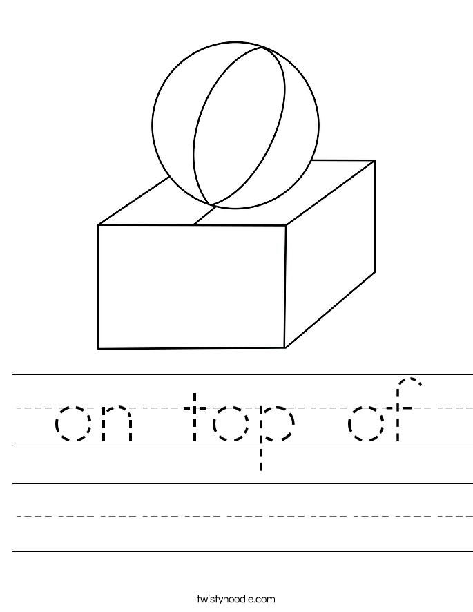 on top of Worksheet