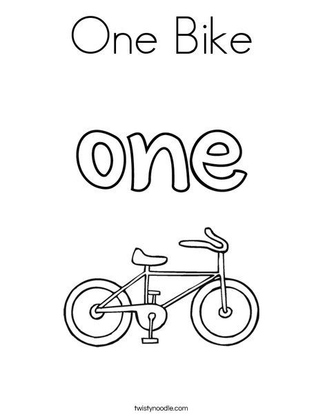 One Bike Coloring Page