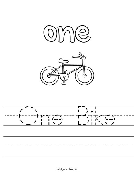 One Bike Worksheet
