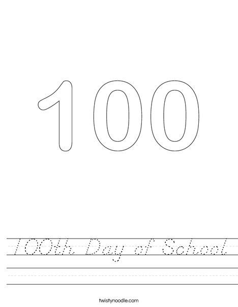 One Hundred Worksheet