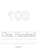 One Hundred Worksheet
