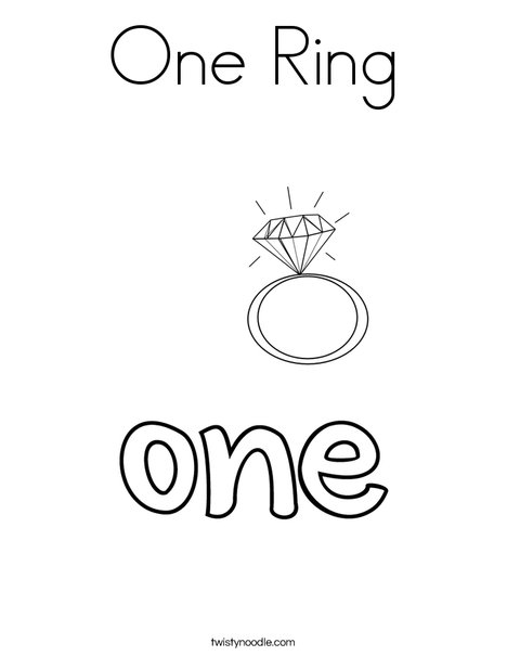 One Ring Coloring Page