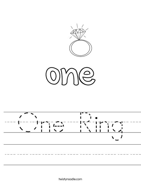 One Ring Worksheet