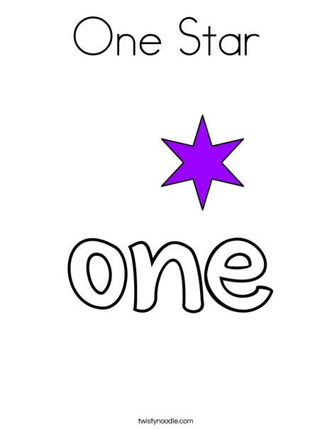 One Star Coloring Page