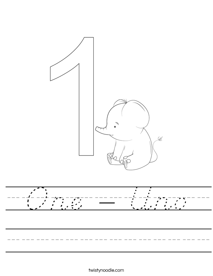 One - Uno Worksheet