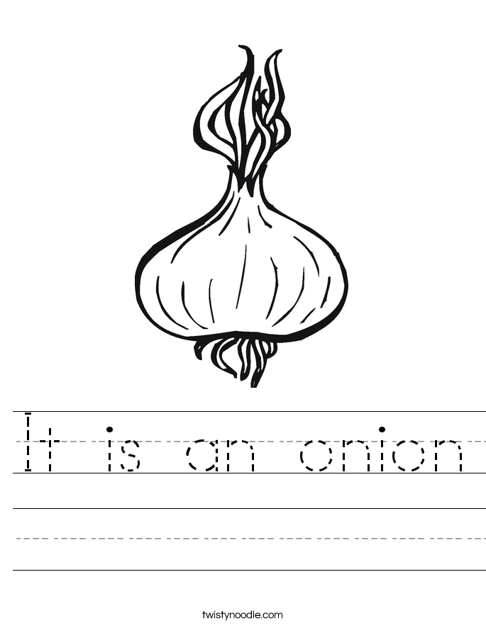 It is an onion Worksheet