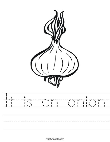 Onion Worksheet