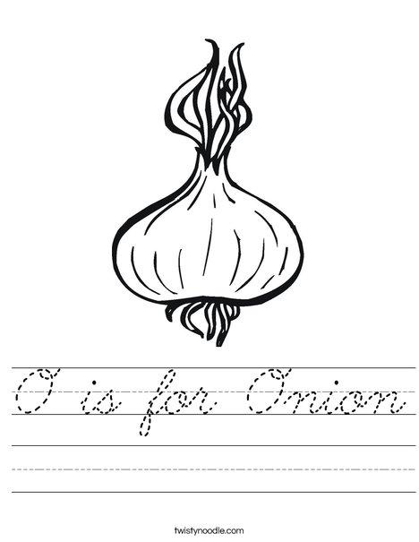 Onion Worksheet