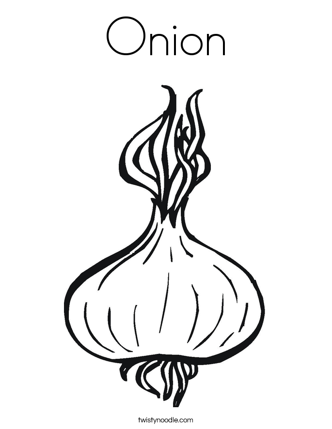 Onion coloring page