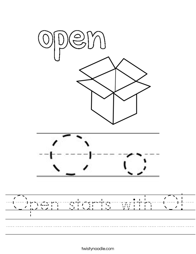 Open starts with O! Worksheet