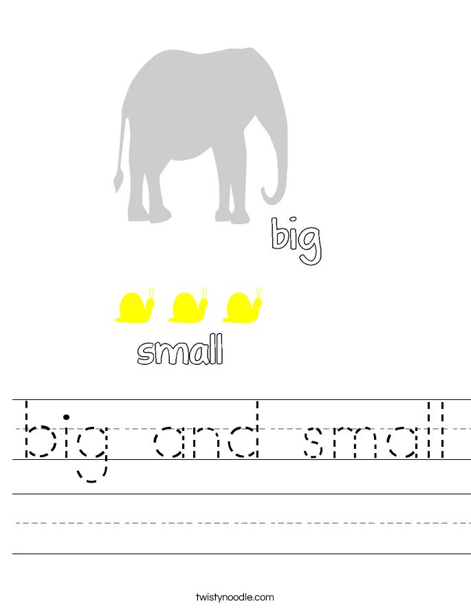 big and small Worksheet
