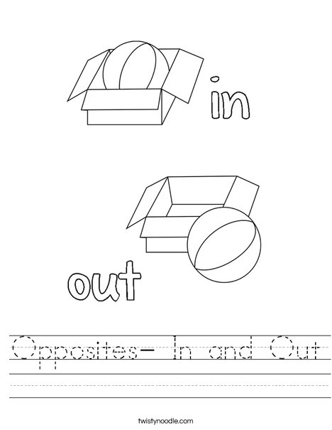 in and out worksheets for preschoolers the large and most comprehensive worksheets. Black Bedroom Furniture Sets. Home Design Ideas