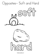Opposites- Soft and Hard Coloring Page