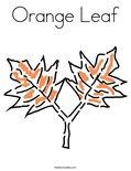 Orange Leaf Coloring Page