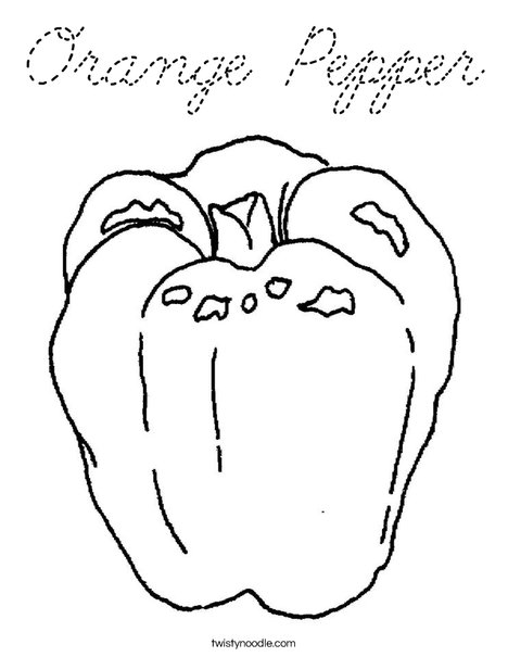 Orange Pepper Coloring Coloring Pages